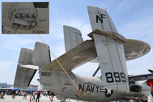 ACTUALLY SEEING WHAT WE DO. E-2 HAWKEYE TIE-DOWN